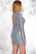 DM Exclusive silver gray sequin dress - Normani