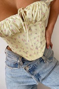 DM Floral Bustier - Yellow