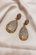 DM Golden Rhinestone Earrings