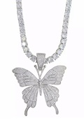 DM Single Butterfly Bling Necklace