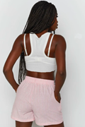DM The Friendly Striped Shorts - Pink