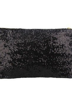 Sequin Clutch – Black