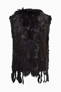 Molly Fur Vest - Black