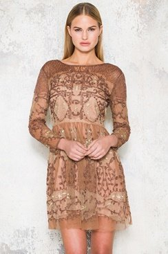 Mandy Dress - Brown