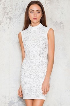 Sleeveless Gigi Dress - White