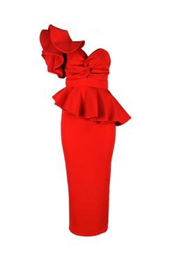 Adele Dress - Red