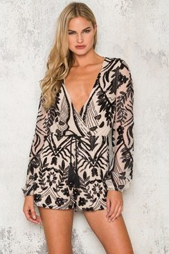 Alexandria Playsuit - Black