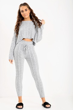 Stickad mysdress - All Day Long Set - Grey