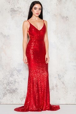 Amber Maxi Dress - Red