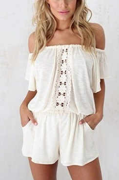 Hvit playsuit - Aussie