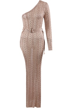 Balmie Maxi Dress - Rose Gold