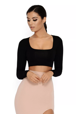 Brenda Crop Top - Black