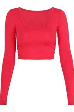 Brenda Crop Top - Red