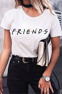 White t-shirt with print - Friends