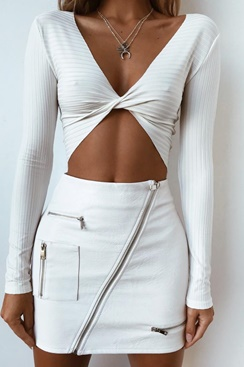 Candice Twist Top - White