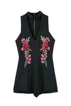 Carrie Playsuit - Black