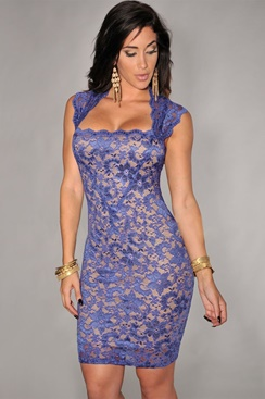 Celia Dress- Blue