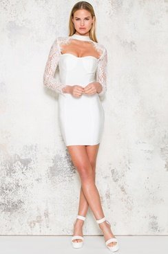Ciara Dress - White