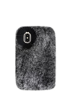Mobilskal för iPhone - Grey Cozy Fur