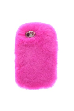 Cozy Fur Case - Hot Pink