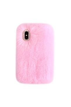 Cozy Fur Case - Light Pink