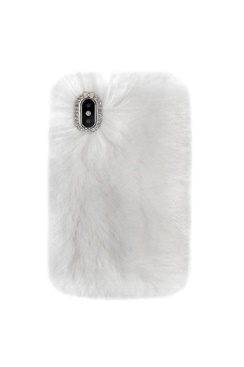 Cozy Fur Case - White