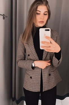 Checkered Blazer - London
