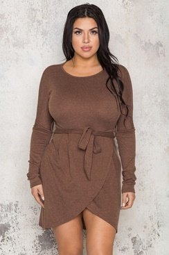 Cyber Dress - Brown