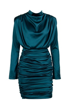 Turqoise draped dress - No Fear
