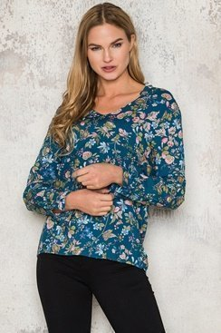 Emma Blouse - Blue