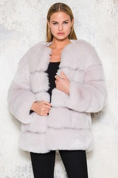 Fluffy Fake Fur Oversized Jacket