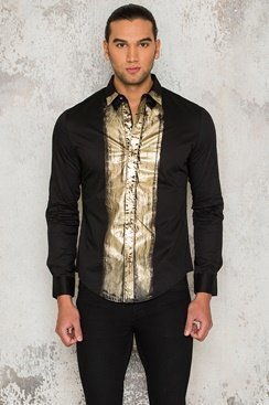 Golden Metal Shirt