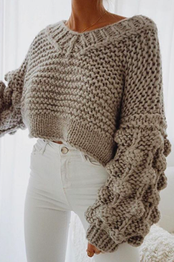 Chunky knitted sweater - Margot