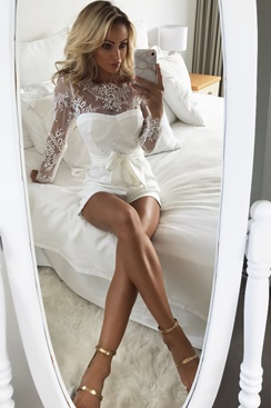 White playsuit - Graduation
