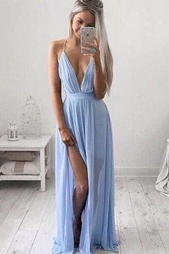 Hold On Maxi Dress - Light Blue
