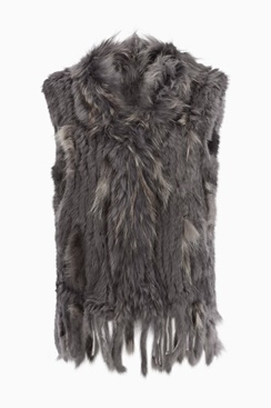 Molly Fur Vest - Dark Grey