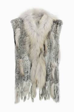 Molly Fur Vest - Light Grey