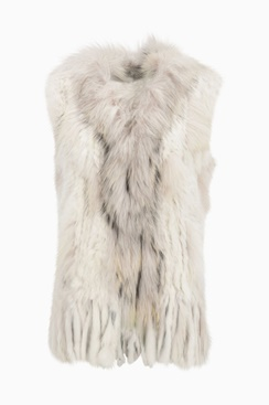Molly Fur Vest - White