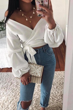 Janine Wrap Sweater