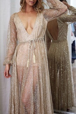 Khaleesi Maxi Dress - Gold