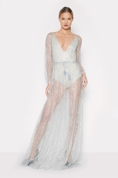 Khaleesi Maxi Dress - Silver
