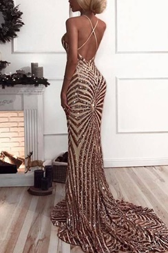 Sequin Maxi Dress - Fury