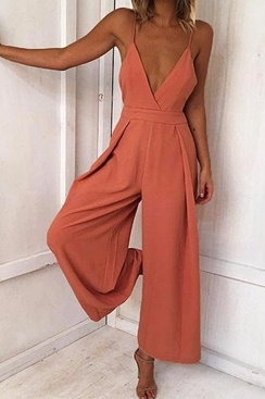 Lexa Jumpsuit - Peach