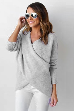Maggie Wrap Sweater - Grey