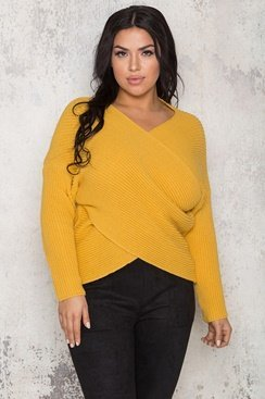 Maggie Wrap Sweater - Yellow