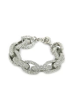 Armband med bling - Diamond Chain Link Silver