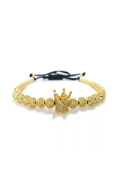Armband med bling - Golden Crown