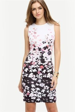 Martina Dress - White/Pink