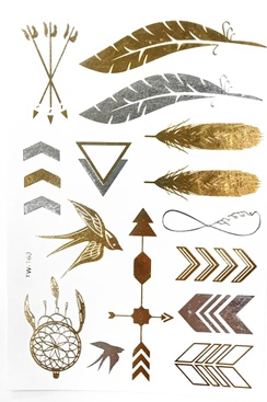 Metallic Jewelry Tattoos