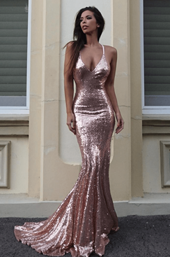 Miami Maxi Dress - Rose Gold